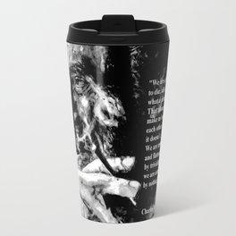 Charles Bukowski - black - quote Travel Mug