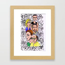THE LSD WORLD OF ITS ALWAYS SUNNY IN PHILADELPHIA Framed Art Print