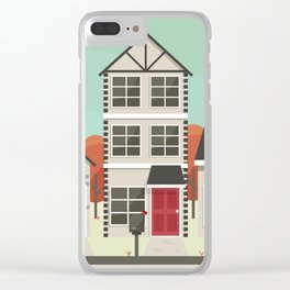 Neighborhood Street View Clear iPhone Case