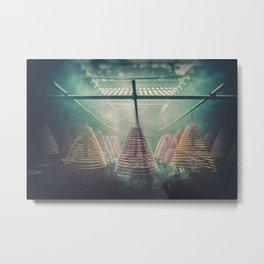 Yung Shue Tau Temple Metal Print