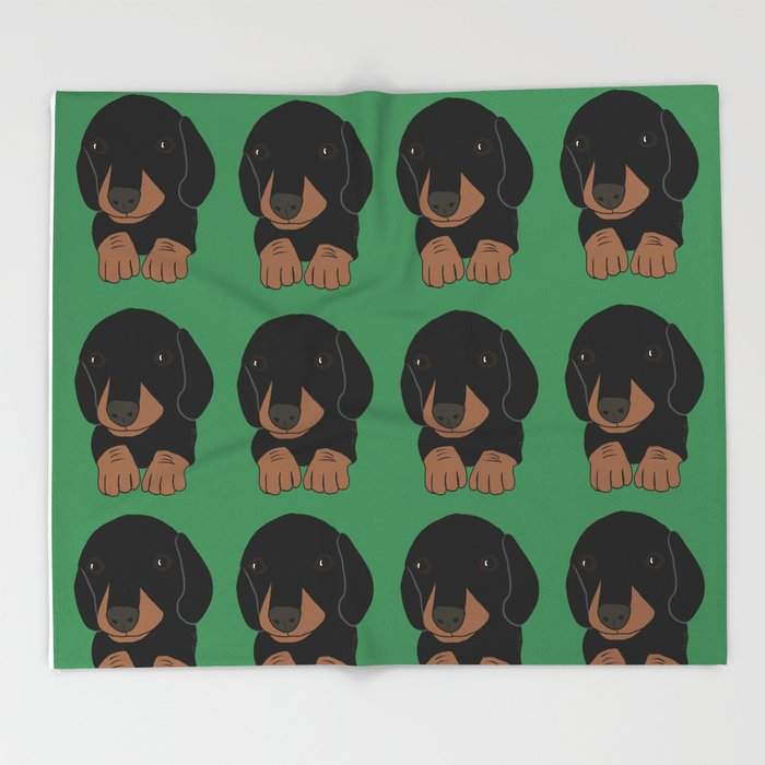 Dachshund Puppies Galore! Throw Blanket