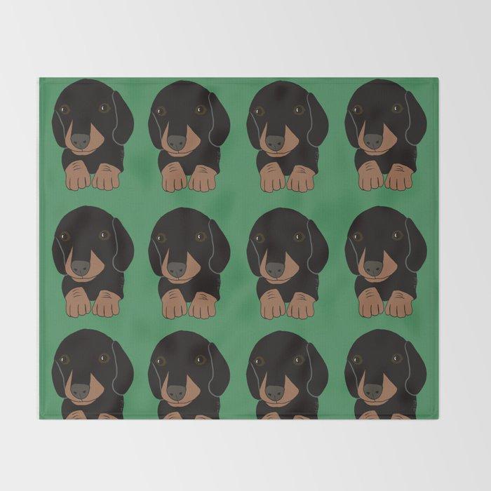 Dachshund Puppies Galore! Throw Blanket