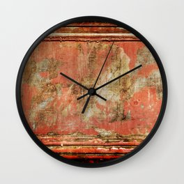 Red Panel Wall Clock