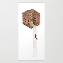 La Cascata Art Print