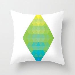 Yellow Cyan Diamond Gradient Throw Pillow
