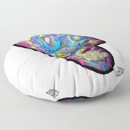 Painted Skull Floor Pillow