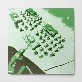GREEN BATTALLION ON THE MARCH Metal Print