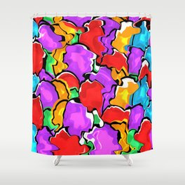 Colorful Scrambled Eggs Shower Curtain