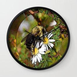 bubbly Bumble bee Wall Clock