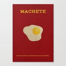 Machete Minimalist Poster Canvas Print