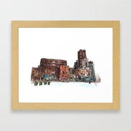 Canadian Malting Factory Framed Art Print