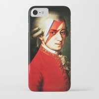 mozart iPhone & iPod Cases featuring Mozart Bowie by rodalume