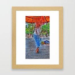 tap dancer [times twelve] Framed Art Print