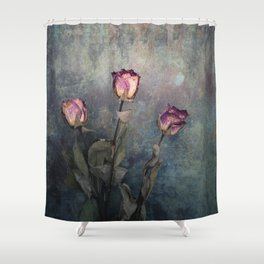 Three Dried Roses III Shower Curtain
