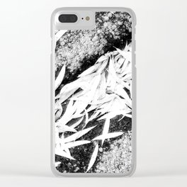 Bleached Winter Leaves Forest Fall Clear iPhone Case