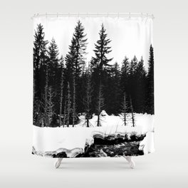St. Helens Snowshoe + River Shower Curtain
