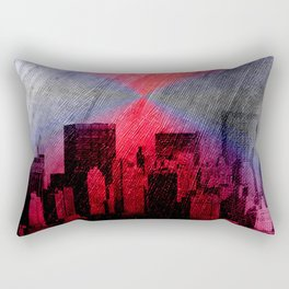 cityscape and colored sky -3- Rectangular Pillow