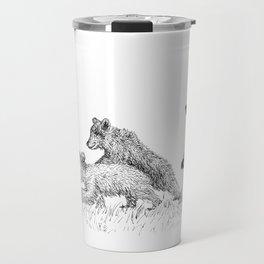 3 Cute Bears Travel Mug