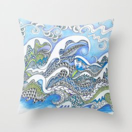 Cresting Waves Throw Pillow