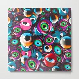 Monster Eyes Party Metal Print