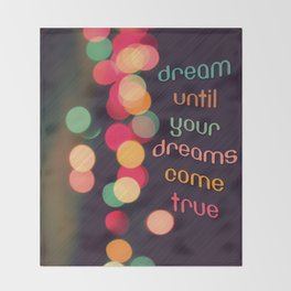 Vintage Colorful Christmas Bokeh Throw Blanket