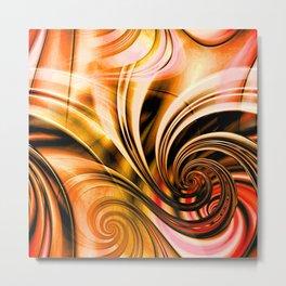 Curls Deluxe Orange Metal Print