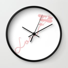 Female Pilot Gift Print Womens Love Aviation And Flying Tee Wall Clock