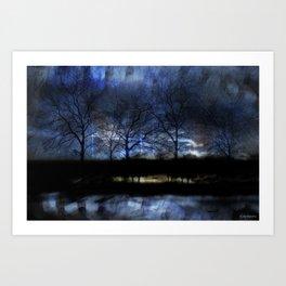 River of Darkness Art Print