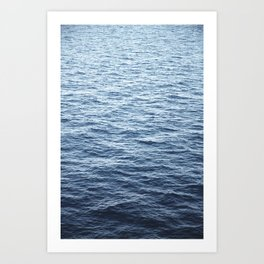Calm Deep Ocean Art Print