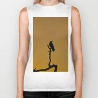 silhouette Biker Tanks featuring Silhouette by Ian Bevington