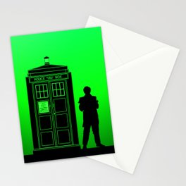 Tardis With The Second Doctor Stationery Cards