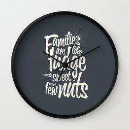 Families - grey Wall Clock