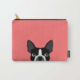 Kennedy - Boston Terrier cute dog themed gifts for small dog owners and Boston Terrier gifts  Carry-All Pouch