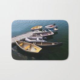 Boats in the Harbor Bath Mat