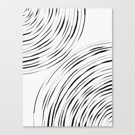Black Circles Canvas Print