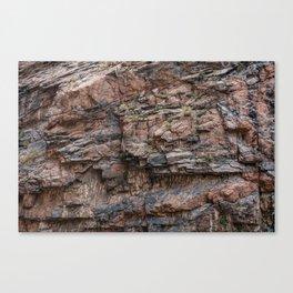Royal Gorge Rock Formation Texture Canvas Print