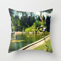 lonely Throw Pillows featuring lonely by Mojca G. Vesel