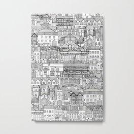 Cambridge toile mono Metal Print
