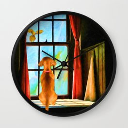 Daydreaming by Liane Wright Wall Clock
