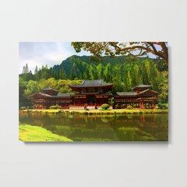 Buddah's Temple 2 ... By LadyShalene Metal Print