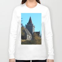 scotland Long Sleeve T-shirts featuring Crathie Church, Balmoral, Scotland by Phil Smyth