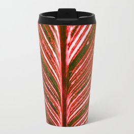 Feather Leaf in Red Travel Mug