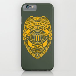 U.S. Military Police Veteran Security Force Badge, Gold iPhone Case
