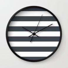Charcoal Stripes Wall Clock