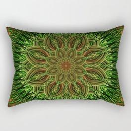 Earth Flower Mandala Rectangular Pillow