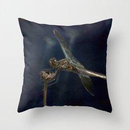 Female Widow Skimmer at Delta Pond, No. 1 Painterly Throw Pillow