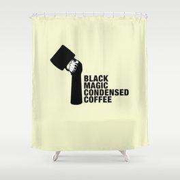 Black magic condensed COFFEE Shower Curtain