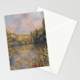 Lakeside Landscape by Renoir Stationery Cards