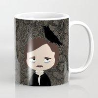 edgar allan poe Mugs featuring Edgar Allan Poe by Creo tu mundo