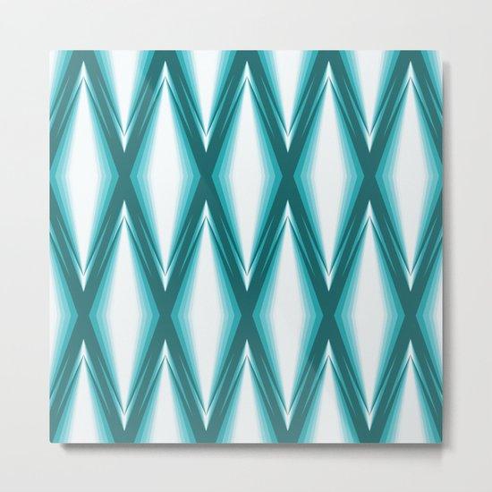 Blue Diamonds Metal Print